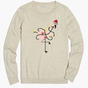 J.Crew Mercantile Flamingo Christmas Sweater Top